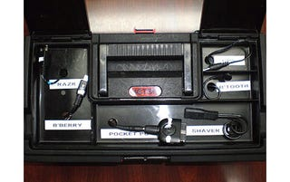 walmart tool box. diy gadget charging stations that stow away ugly cables, so we couldn\u0027t resist jim driscoll\u0027s portable charger fashioned out of a $3 walmart toolbox . tool box r