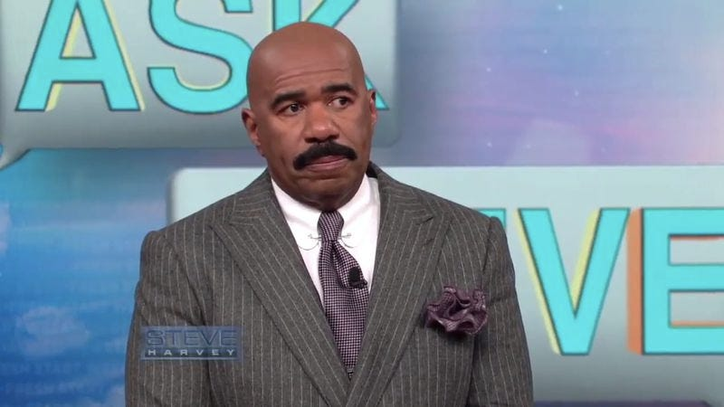Illustration for article titled Steve Harvey gave up whatever was left of his soul when he met with Donald Trump
