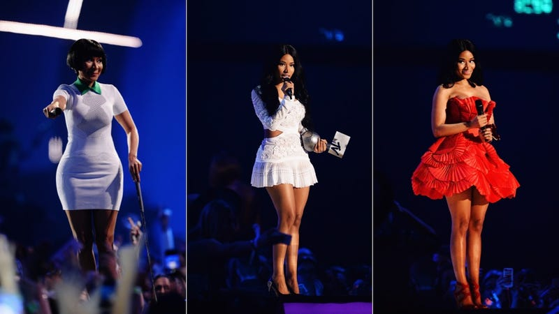 Gowns, Kilts and All the Nicki Minaj Outfits at the 2014 MTV EMAs