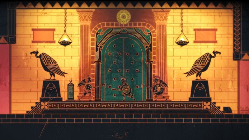 Illustration for article titled Apotheon's clunky action ruins a pleasant journey through Greek myth