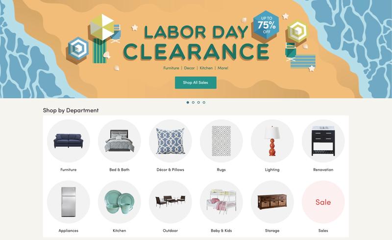 Wayfair Labor Day Sale