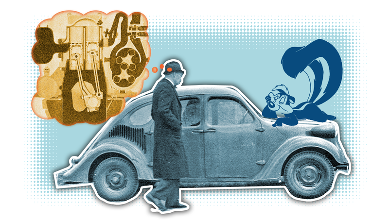 Illustration for article titled GM's 1930s Rear-Engine Experimental Cars Had The Weirdest And Stinkiest Engines Ever