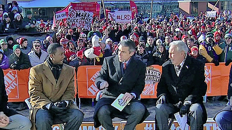"""Illustration for article titled """"Mark May, Suck On These Nuts"""": Your OSU-MSU GameDay Sign Roundup"""