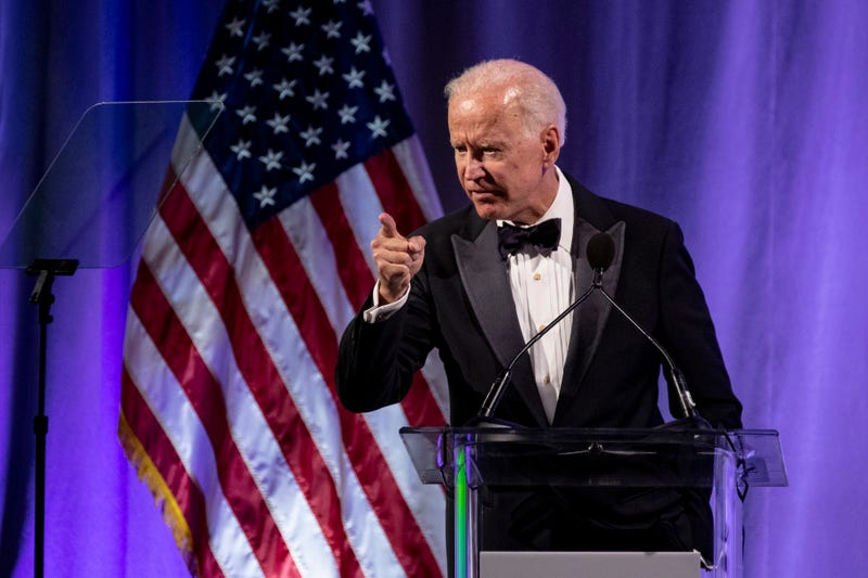 WASHINGTON, DC - Former U.S. Vice President Joe Biden delivers remarks during the National Minority Quality Forum on April 9, 2019 in Washington, DC. Biden was awarded the lifetime achievement award from the National Minority Quality Forum summit on Health disparities.