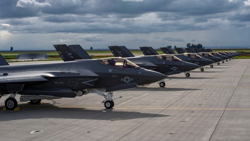 "VFA-147 ""Argonauts"", on the runway at Naval Air Station Lemoore, California, February 21, 2019."