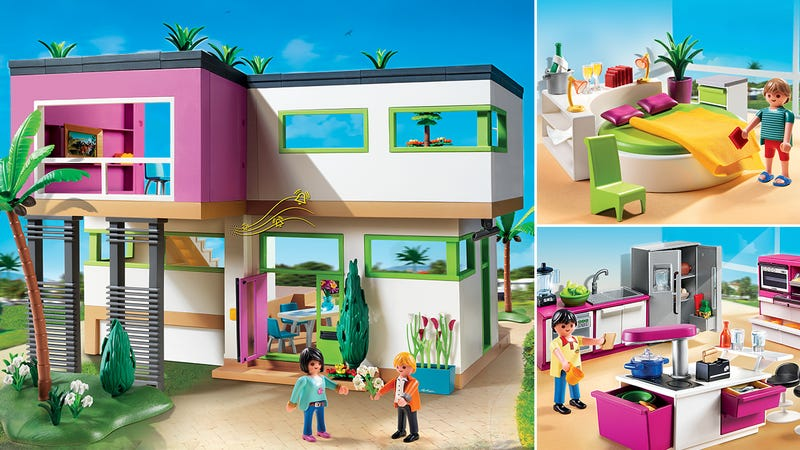 Illustration for article titled It's OK To Be Jealous Of Playmobil's New Ultra-Modern Luxury Mansion