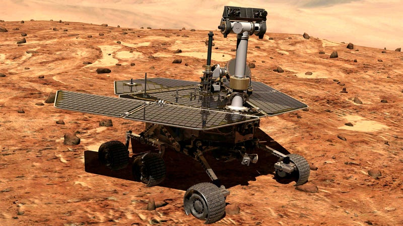 An artist's conception of Opportunity on Mars. Photo: AP