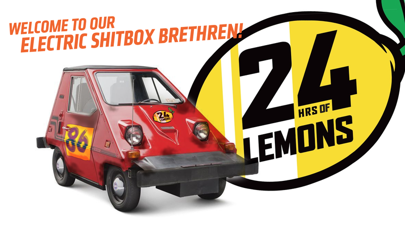 Illustration for article titled Infamous 24 Hours of Lemons Introduces Full-Electric Class with 5½ Tons of Money as Prize