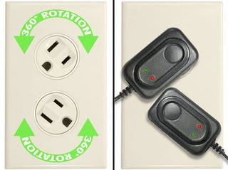 Illustration for article titled Smarthome's Rotating Power Outlet Gives Your Chargers Space