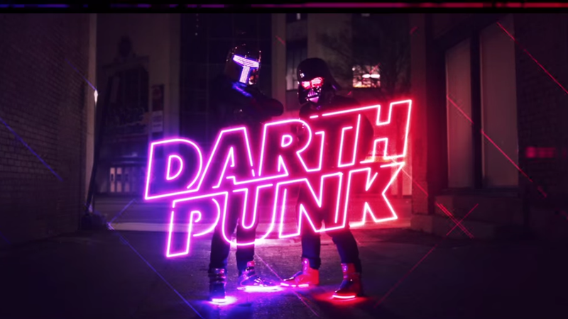 Illustration for article titled I Can't Stop Watching This Star Wars-Themed Darth Punk Music Video