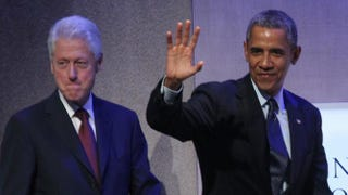 Former President Bill Clinton and President Barack Obama in SeptemberMehdi Taamallah/AFP/Getty Images