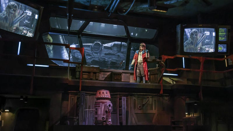 A glimpse inside Millennium Falcon: Smugglers Run at Star Wars: Galaxy's Edge.