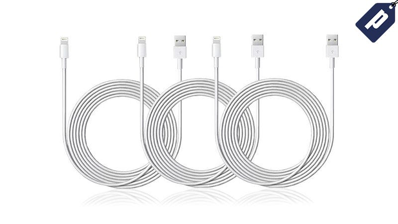 Illustration for article titled Get Three 10-Ft MFi-Certified Lightning Cables For $17