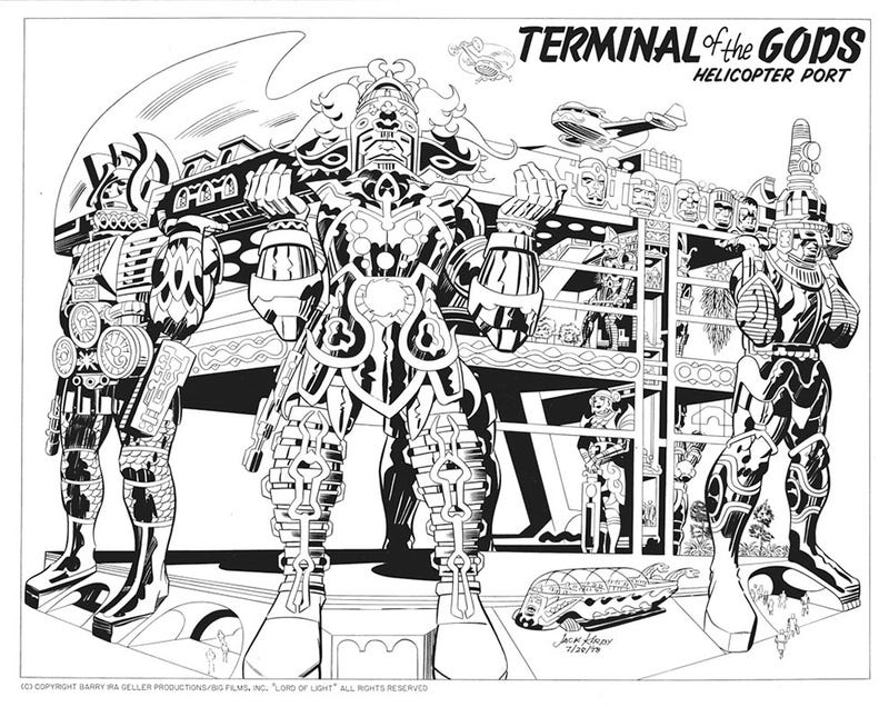 Illustration for article titled Lost Jack Kirby storyboards show the insane world that could have been Argo
