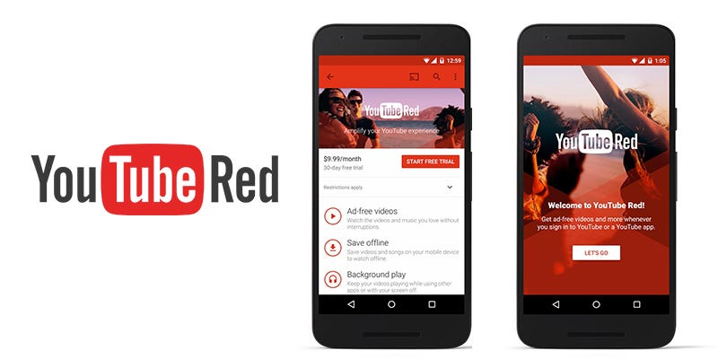 Illustration for article titled YouTube Red: $10 Per Month For Video With No Ads, Plus Streaming Music, Plus Original Content