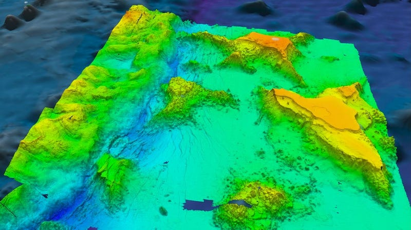 Bathymetry data from near the Mariana Trench