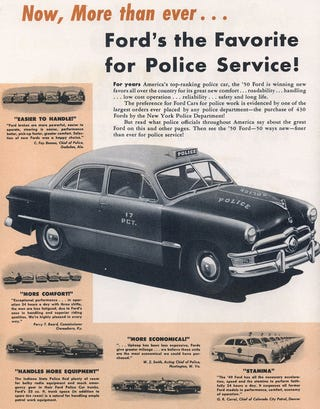 Illustration for article titled 5-0 In A 5.0: A History Of Ford Police Vehicles