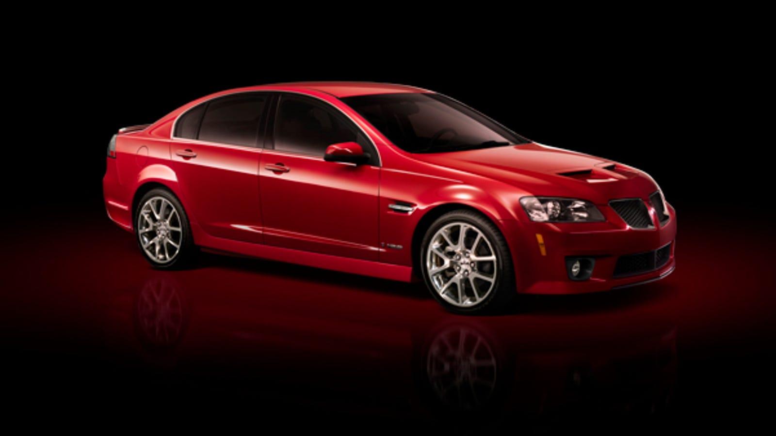 2009 Pontiac G8 GXP Revealed, Gets Corvette LS3 Power And A Manual  Transmission