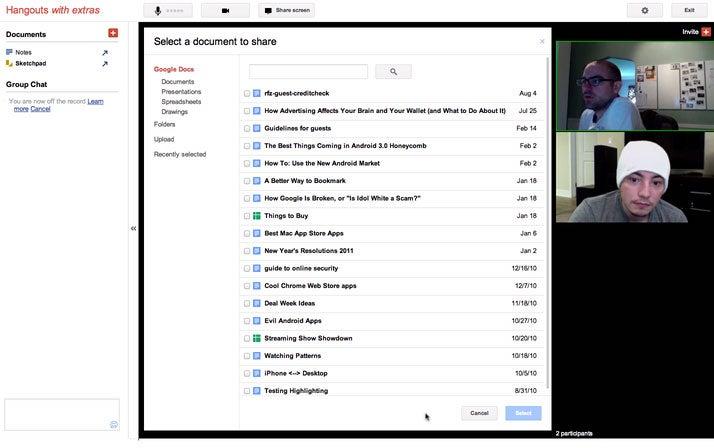 Google+ Hangouts Adds Screen Sharing, Google Docs Collaboration, and
