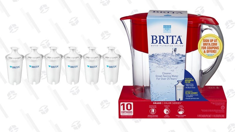Brita Large 10 Cup Grand Water Pitcher with Filter - Red | $26 | Amazon | After $4 couponBrita Standard Replacement Filters | $21 | Amazon