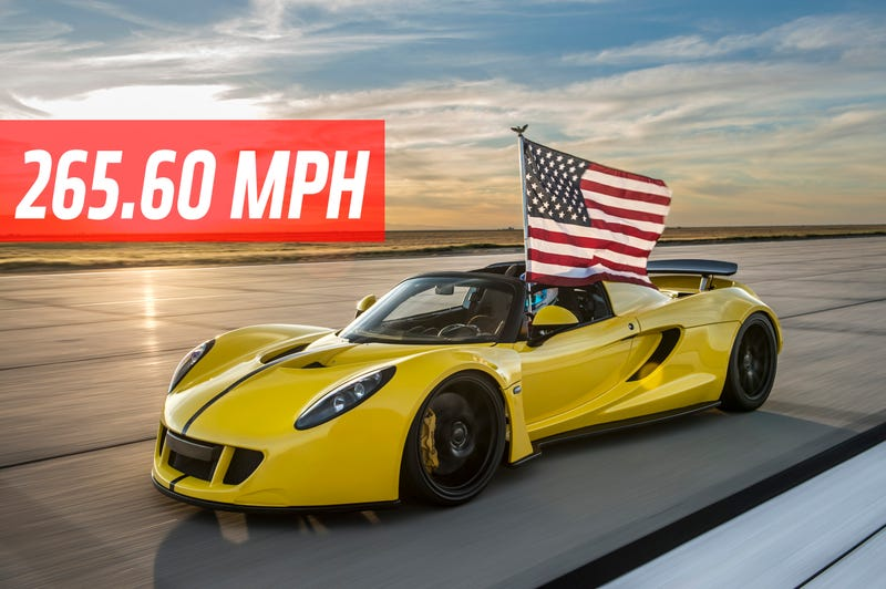 Ilration For Article Led The Hennessey Venom Gt Spyder Is Fastest Convertible In World