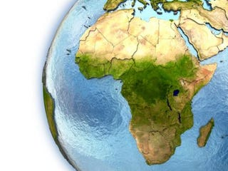 Image of the African continent on a globeiStock