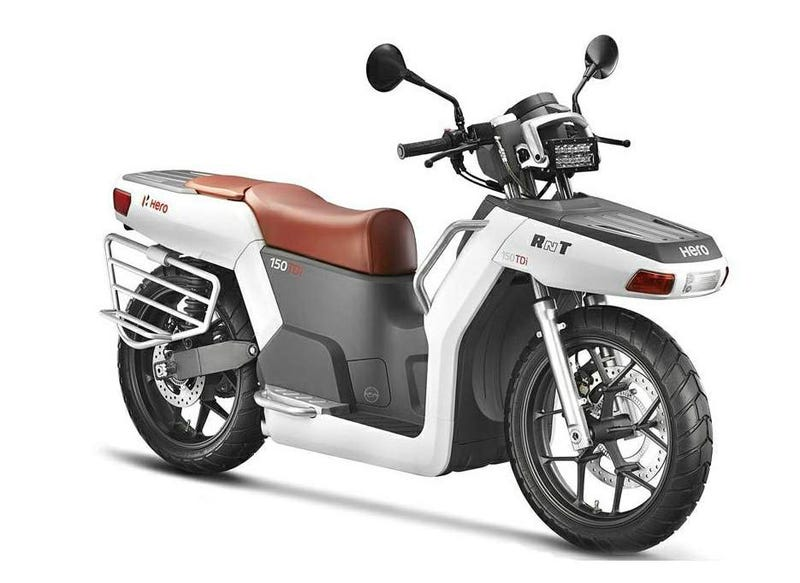Illustration for article titled RNT, un scooter híbrido con motor turbodiesel y tracción a dos ruedas