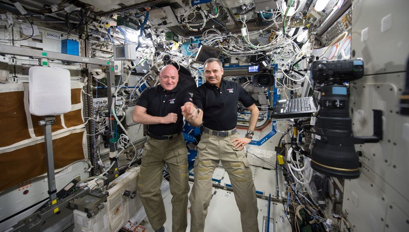 Commander Scott Kelly and cosmonaut Mikhail Kornienko marked their 300th consecutive day in space on January 21st, 2016, via NASA