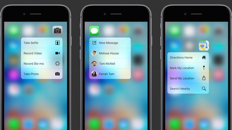 show me iphone 6 all the new stuff you can do with 3d touch on the iphone 6s 1298