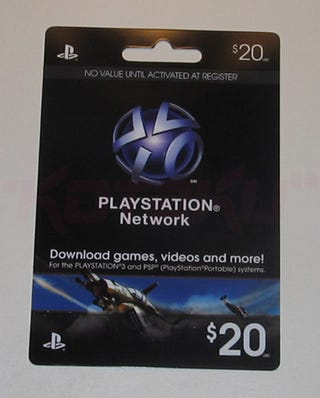 Illustration for article titled PSN Cards Are Just Hitting Stores Now
