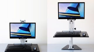 Illustration for article titled Transform Any Desk into an Affordable, Flexible Standing Desk