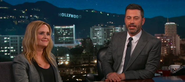 """Jimmy Kimmel reminds Sam Bee about interviewing """"thirsty"""" Kellyanne Conway on The Daily Show"""