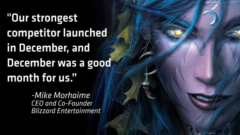 Illustration for article titled What Effect Did Star Wars: The Old Republic's Launch Have on World of Warcraft?
