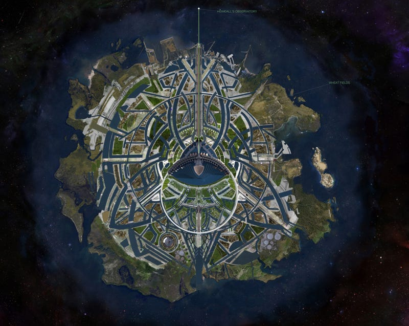 Illustration for article titled Thor concept art includes a complete map of Asgard