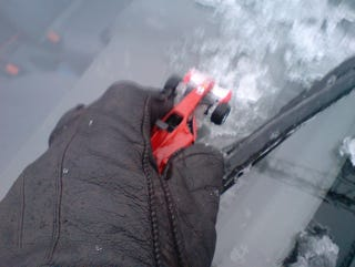 Illustration for article titled Beat Icy Windows With a Ferrari Ice Scraper