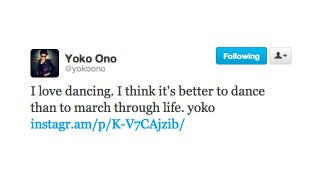 Illustration for article titled Yoko Ono Dances Through Life While the Rest of Us Sadly March