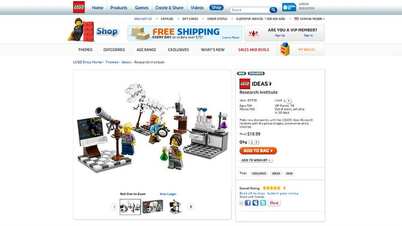 Illustration for article titled Lego Gets It Right, Releases Lady Scientist Play Set