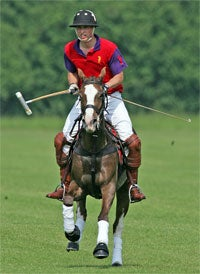 Illustration for article titled Prince William Mounts, Straddles, Hits Balls Hard
