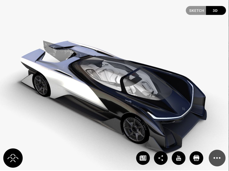 Illustration for article titled Is This Insane 1000 HP Autonomous Batmobile The Faraday Future Concept?