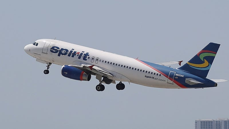 Spirit Airlines plane takes off at the Fort Lauderdale-Hollywood International Airport on May 9, 2017,  in Fort Lauderdale, Fla. (Joe Raedle/Getty Images)