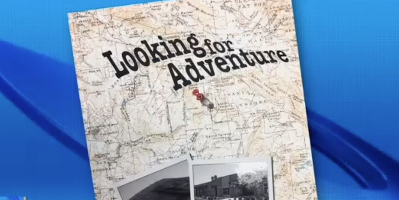 The cover of the Black Mountain Middle School yearbook featured a historical map of northern San Diego County that had the n-word printed on it. (CBS screenshot)