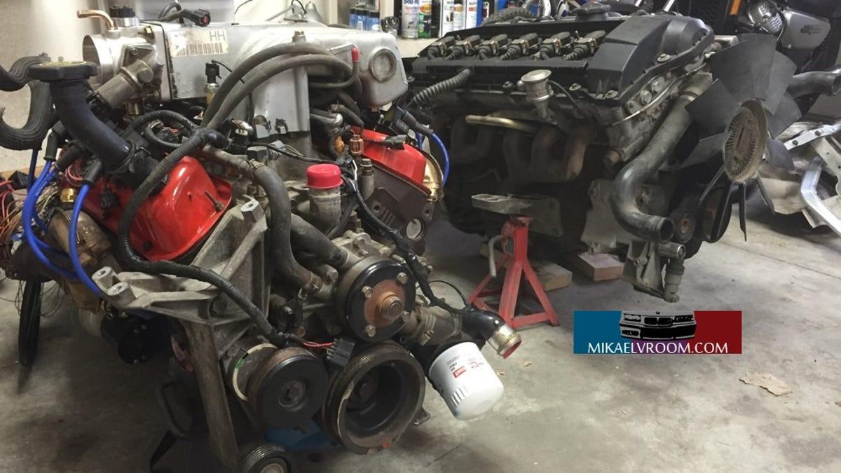 BMW E36 V8 Swap Part 8: Engine Size Comparison -and-