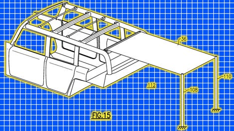 ford designed  deployable airbag mechanism   road vehicles  removable doors