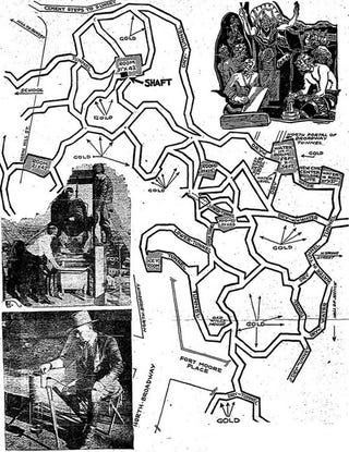 Illustration for article titled A 1934 Map Of The Secret Lizard City Under Los Angeles