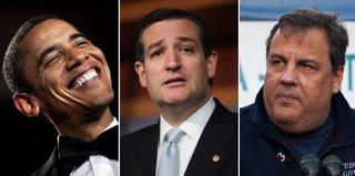 Barack Obama; Ted Cruz; Chris Christie (Getty Images)