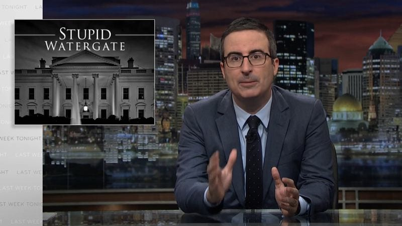 "Illustration for article titled Seven days' worth of ""Stupid Watergate"" breaks Last Week Tonight"