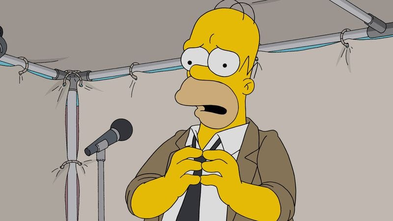 the simpsons live episode will show off homer s improv skills