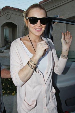 Illustration for article titled Lindsay Lohan's All Freckles & Smiles