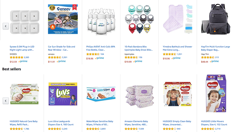 Amazon appears to send baby registry emails to users who aren't expecting