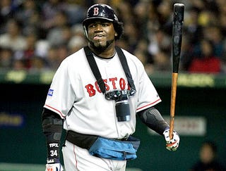Illustration for article titled David Ortiz Plays Games In Japan Wearing Camera, Fanny Pack